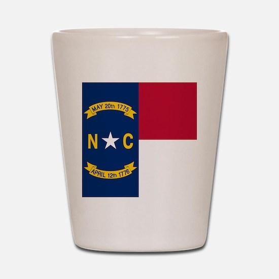 Flag of North Carolina Shot Glass