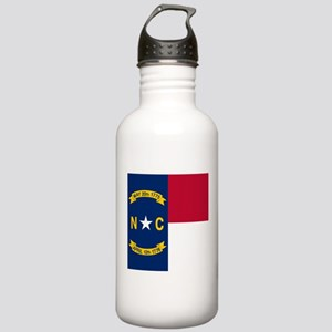 Flag of North Carolina Sports Water Bottle