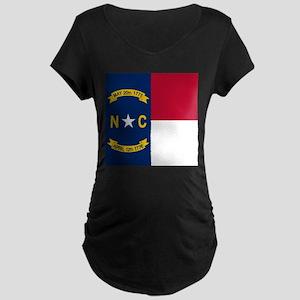 Flag of North Carolina Maternity T-Shirt