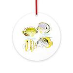 4ButterflyFish Ornament (Round)