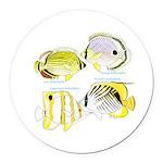 4ButterflyFish Round Car Magnet
