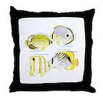 4ButterflyFish Throw Pillow