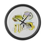 4ButterflyFish Large Wall Clock