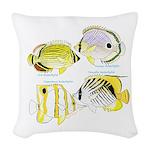 4ButterflyFish Woven Throw Pillow