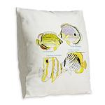 4ButterflyFish Burlap Throw Pillow