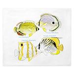 4ButterflyFish King Duvet