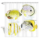 4ButterflyFish Shower Curtain