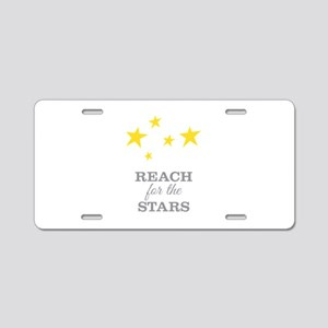 Reach For The Stars Aluminum License Plate