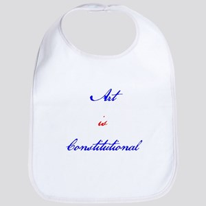 Art Is Constitutional Bib