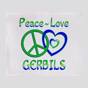Peace Love Gerbils Throw Blanket