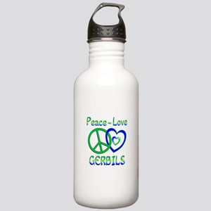 Peace Love Gerbils Stainless Water Bottle 1.0L