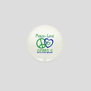 Peace Love Gerbils Mini Button