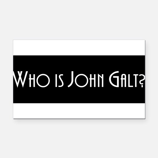 Cute John galt Rectangle Car Magnet