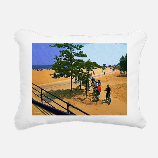 Heading Out To The Lake Rectangular Canvas Pillow