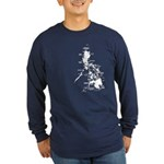 Philippines Rough Map Long Sleeve Dark T-Shirt