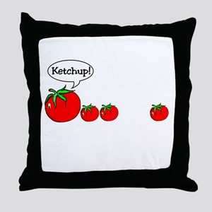 Ketchup Joke Throw Pillow