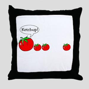 Ketchup Joke Throw Pillow