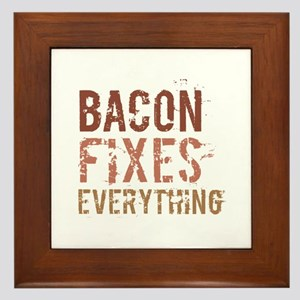Bacon Fixes Everything Framed Tile