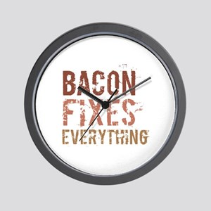 Bacon Fixes Everything Wall Clock