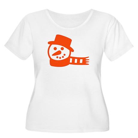 snowman Women's Plus Size Scoop Neck T-Shirt