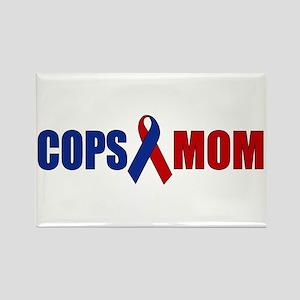 Cops Mom Rectangle Magnet