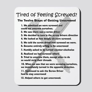 12 Steps for the Screwed Mousepad