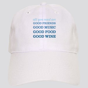 Good Friends Food Wine Cap