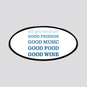 Good Friends Food Wine Patches