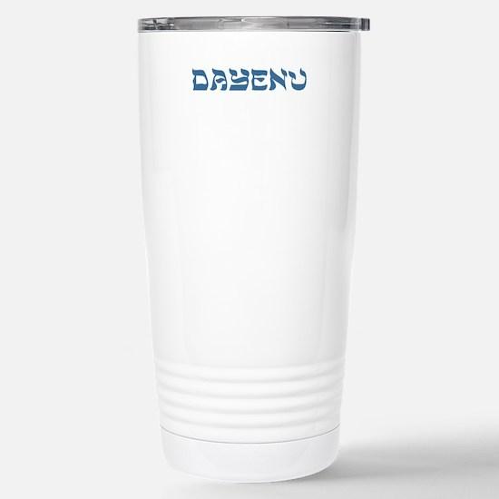 Dayenu Passover Stainless Steel Travel Mug