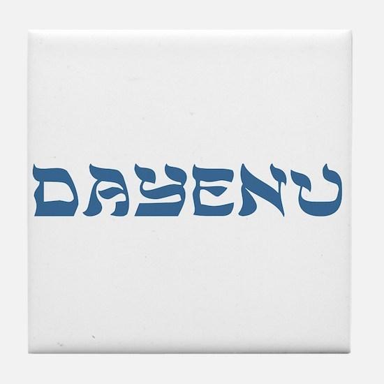 Dayenu Passover Tile Coaster