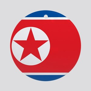 Flag of North Korea Ornament (Round)