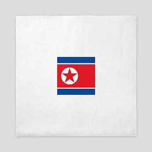 Flag of North Korea Queen Duvet