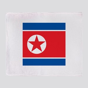 Flag of North Korea Throw Blanket