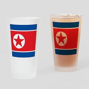 Flag of North Korea Drinking Glass