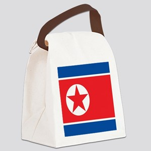 Flag of North Korea Canvas Lunch Bag