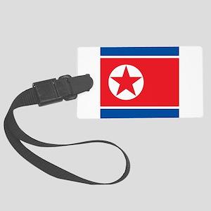 Flag of North Korea Large Luggage Tag
