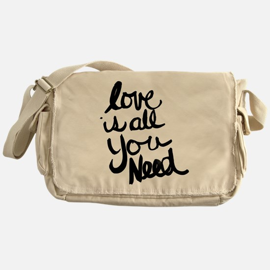 Love is all You Need Messenger Bag