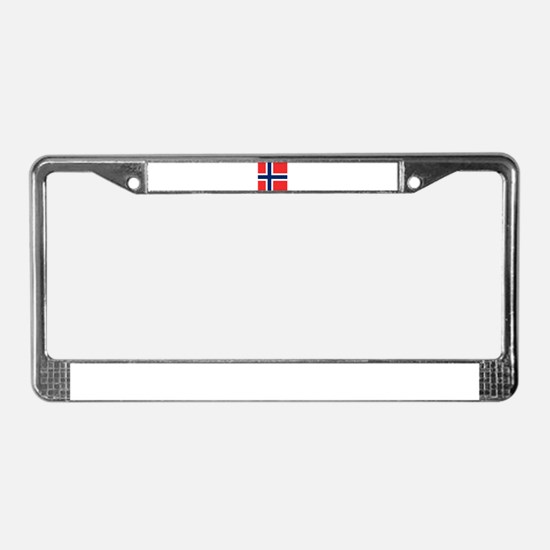 Flag of Norway License Plate Frame