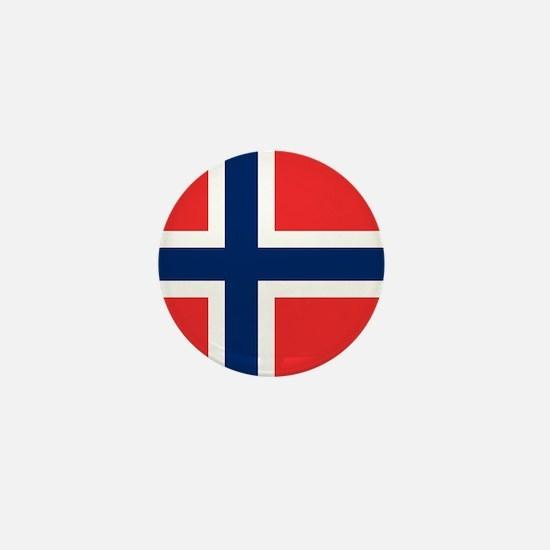 Flag of Norway Mini Button