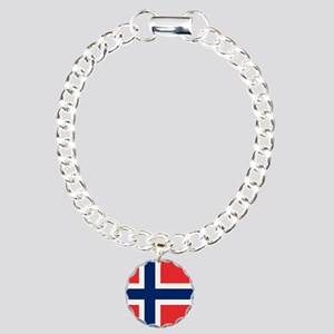Flag of Norway Charm Bracelet, One Charm