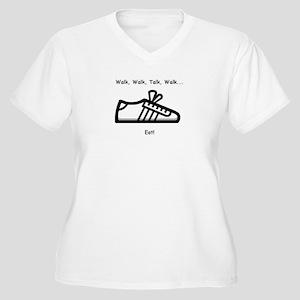Walk, Talk, Eat Women's Plus Size V-Neck T-Shirt
