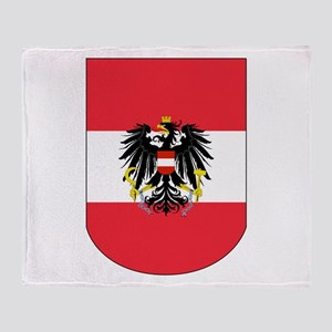 Austrian Coat of arms on Shield Throw Blanket