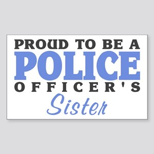 Officer's Sister Rectangle Sticker