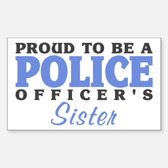 Officer's Sister Rectangle Decal