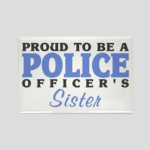 Officer's Sister Rectangle Magnet