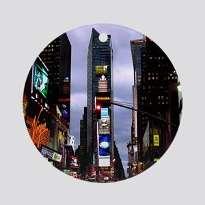 New York Souvenir Times Square Ornament (Round)