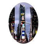 New York Souvenir Times Square Gifts Ornament (Ova