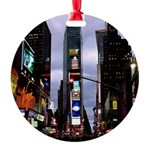 New York Souvenir Times Square Round Ornament