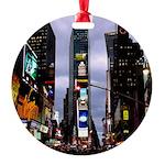New York Souvenir Times Square Round Ornament
