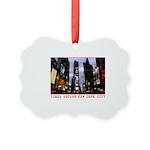 New York Souvenir Times Square Picture Ornament